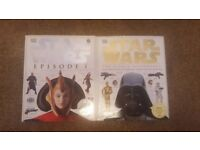 Starwars books and minature lightsabre collectable