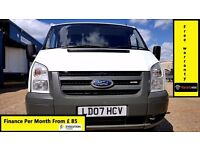 Finance- £85 P/ M- Ford Transit Low Roof Van 2.2 300-72k-1 Owner- XBt- FSH-1YR MOT- Warranty 260 280