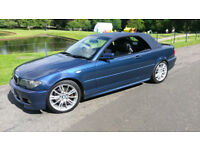 BMW 330ci M SPORT CONVERTIBLE CABRIOLET 330 E46 LEATHER ALLOYS RARE 6 speed MANUAL *1 YEARS MOT*