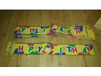 Joblot of birthday banners