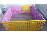 New Large Pink Baby Playpen