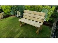 New garden bench