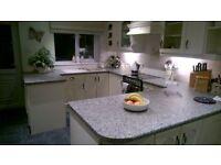 Cream fully intergrated kitchen