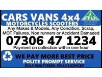 ‼️ WANTED ALL CAR VAN COLLECT TODAY FAST CASH SCRAP MY VEHICLE SELL MY BEST PRICE