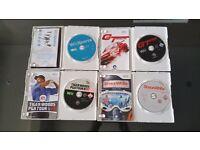Nintendo Wii Games Sports Bundle, Tiger Woods , Wii Sports , Shaun White & GT Pro