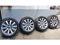 """4x 17"""" Genuine Ford Alloy Wheels Tyres Transit Connect Focus Mondeo S-Max C-Max 3693"""