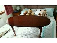 Walnut colour coffee table