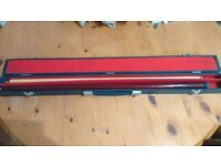 Jimmy White Pool Master Cue (2 part) - Like New - Free Case