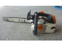 stihl ms200t powerful professional top handle chainsaw