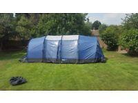 Kampa Sandown 8 berth tent in blue