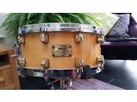 Yamaha Maple Custom Snare Drum - Gold Lugs