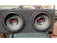 Duel earthquake subs and 2000w auna amp
