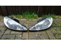 Peugeot 206 front and rear lights