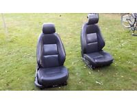 2 x Saab turbo electric leather seats for van conversion