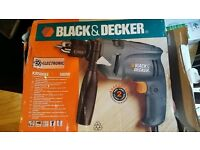 *£5* Black and Decker 500w Corded Hammer Action Drill