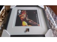 DAVID BOWIE - ZIGGY STARDUST LTD EDITION PRINT (ONLY 950) ROYAL MAIL STAMP + COPY OF THE ALBUM
