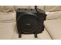 CAR ACTIVE SUBWOOFER INFINITY BASSLINK 10 INCH BASS BOX WITH BUILD IN AMPLIFIER PASSIVE RADIATOR