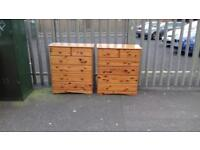 Selection of pinewood chests of drawers £45 each