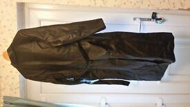 Lovely lady's long leather coat