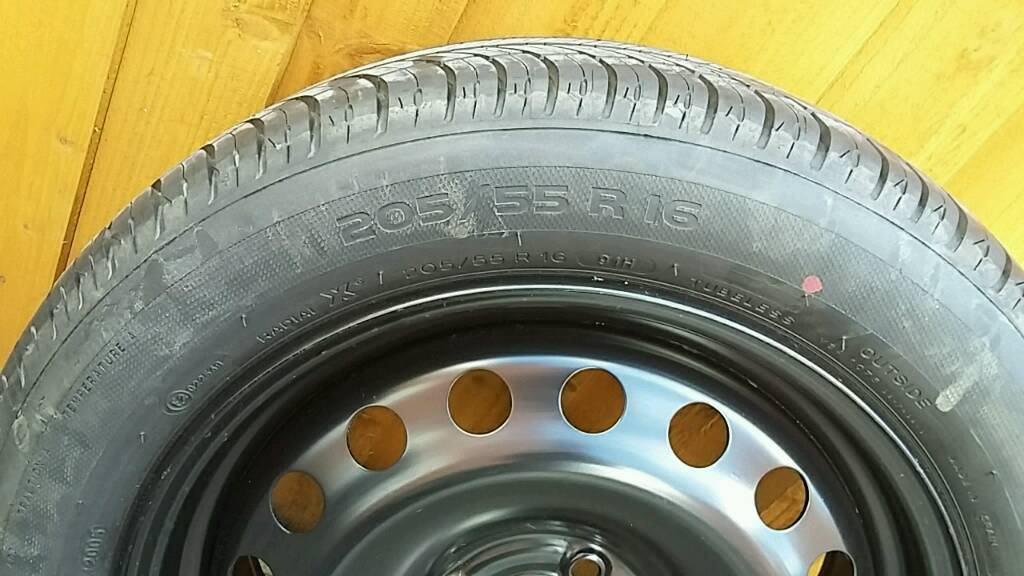 Megane Brand New spare wheel and tyre 205/55/16