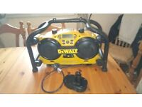 Used Dewalt DC011 Site radio/battery charger, with battery, GWO, see photos & details