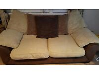 2 x 3seater scatter back sofas