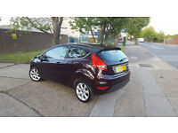 FORD FIESTA ZETEC 1.4 2010. DARK PURPLE.PARKING SENSORS. ONLY 51 K MILES. EXCELLENT DRIVE.BARGAIN