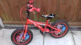 Boys bike lightining mcqueen