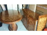 Table and sideboard