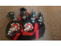 Tae kwon do sparring boots and gloves. Bag included