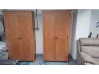Julian Bowen Marlborough Oak 2 Door Wardrobe FREE DELIVERY DERBY NOTTINGHAM View Collect Welcome