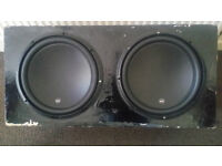 2 JL SUBS 13W3V3.4 WITH DIRECTED AMP