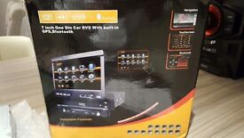 Car radio cd player with built in sat navigation, TV,Bluetooth, camera connection, AUX. £100 O.N.O