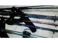 Fishing Rods x 6. - Carp rods - used for a 1 week hol. Nice Cond..