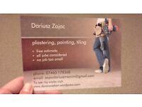 Painter, Decorator, Tiler, Plasterer (painting, tiling, plastering and more)