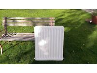 Two White Central Heating Radiators