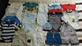 Baby boys 6-9 months clothes bundle 42 items