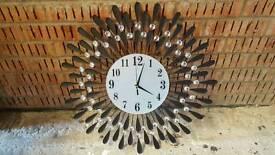 Black diamante clock