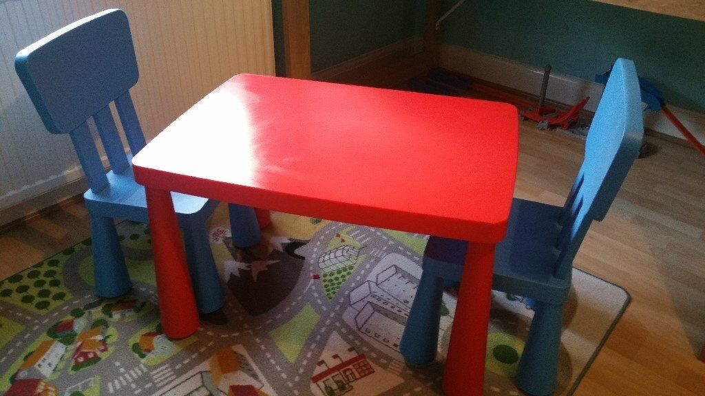 Ikea children's table and chairs - great condition