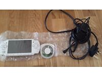 White sony psp console