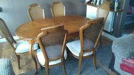 Dining tables. 6 chairs