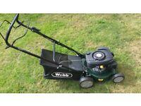 "Webb 'Classic' 41cm (16"") Petrol Self Propelled lawn mower"