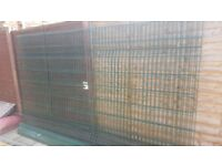 Sold metal security fencing
