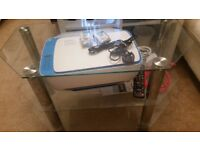 Unused Glass / chrome 3 shelves IKEA TV Trolley for tv / dvd etc only 20 from pets n smoke free home