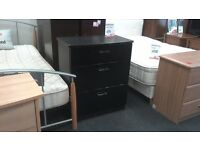 Black Ash Solid Wood Chest of Drawers at BHF Glasgow