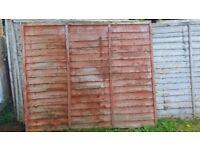 Free fence panels