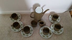"Retro Maidstone Stonewear ""Tulip"" Coffee Set"