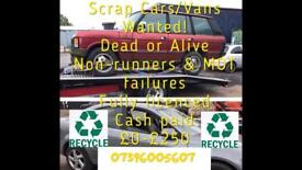 All cars and vans wanted dead or alive top prices paid