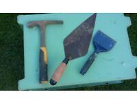 Bricklayers job lot of tools