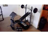 Weight bench and 40kg of weights